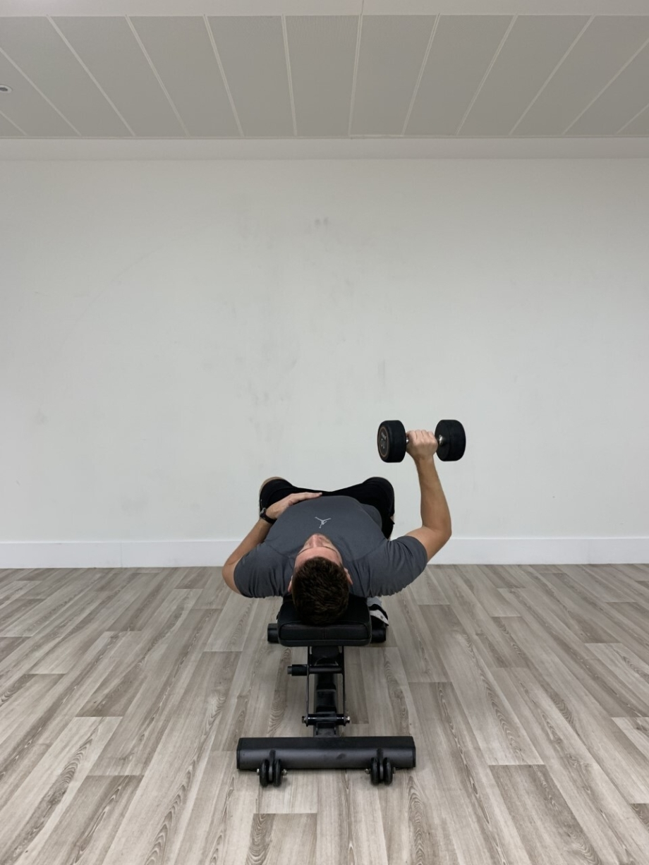 Single Arm Dumbbell Press 4