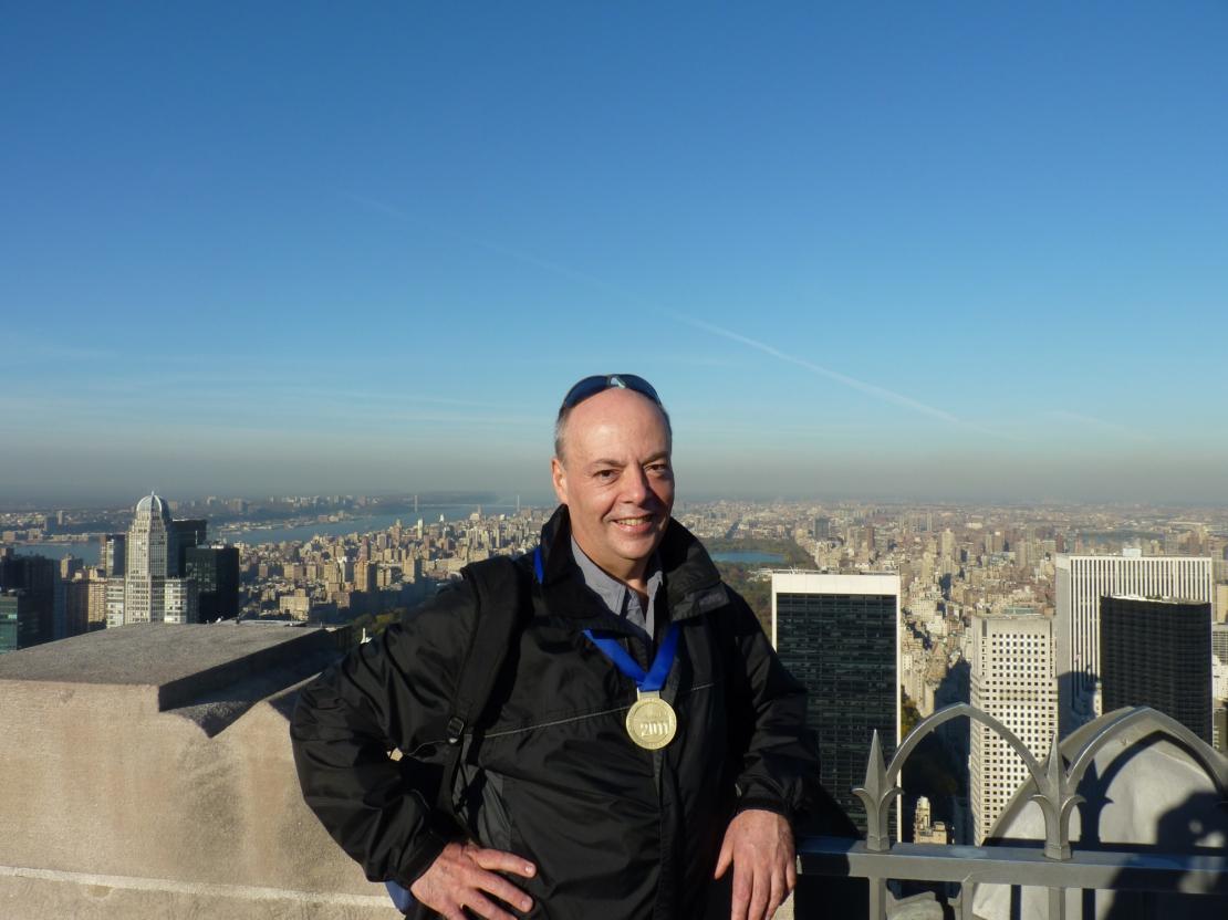 Alec Lom At New York Marathon 2011