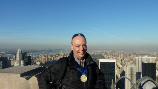 Alec Lom At New York Marathon 2011
